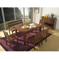 Buy cheap 2016 Nordic Design Restaurant room Furniture suite in Walnut wood Long dining table and Cushion Bench with eat Buffets from wholesalers