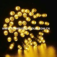 Buy cheap Warm White Battery Powered LED String Lights / Rechargeable Battery Operated Fairy Lights from wholesalers