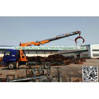 Buy cheap Custermizing Truck loading crane 8 ton at 2m, truck mounted crane,Wood Grap, best knuckle boom    WhatsApp:8615271357675 from wholesalers