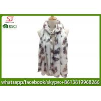 Buy cheap China manufactuer buttlefly print scarf 100% Acrylic 82*200cm shawl  hijab online wholesale exporter from wholesalers