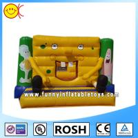 Buy cheap 0.55mm PVC Commercial Inflatable Bouncers With Spongebob Square Pants from wholesalers