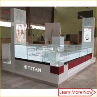 Buy cheap bespoke retail store shop counter design /led glass jewelry display cabinet/mall jewelry kiosk from wholesalers
