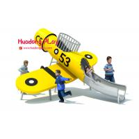 Buy cheap Yellow Wooden Plane Stainless Steel Slide Outdoor Playground from wholesalers