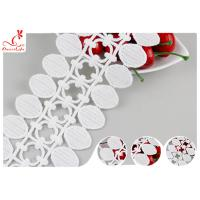 Buy cheap Dubai Water Soluble Embroidered Guipure Lace Trims With Flat Pom Pom Lace Design from wholesalers
