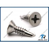 Buy cheap 316/18-10 Stainless Steel Philips Countersunk Head Self-drilling Screws from wholesalers