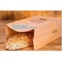 Buy cheap Beautiful printing Food grade package bread takeout Brown Kraft Paper Bag for bakery retail,Best quality food grade cust from wholesalers