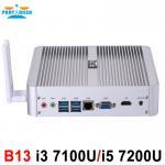 Buy cheap Partaker B13 Fanless Desktop Computer Mini PC I3 7100U I5 7200U Windows 10 Max 16G RAM 512G SSD 1TB HDD Free 300M WiFi from wholesalers