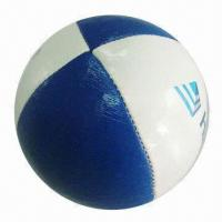 Buy cheap Synthetic Leather Hacky Sack/Juggling Toy Ball, Available with Logo Printing for Promotional Purpose product