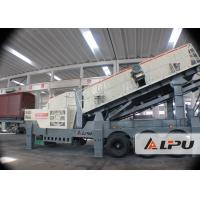 Buy cheap Mine Jaw Portable Crusher Plant / Mobile Crushing And Screening Plants from wholesalers