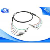Buy cheap Black  ST Type Tactical Fiber Optic Cable Patch Cord  for Military Application from wholesalers