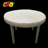 Buy cheap PE Wicker Outdoor Furniture Table With Tempered Glass Top , Outdoor Wicker Table product