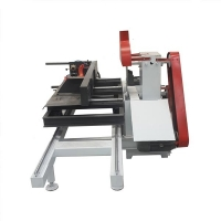 Buy cheap Two Blades Manual Sliding Table Timber Sawmill Machine from wholesalers