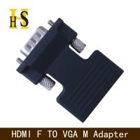 Buy cheap high quality hdmi female to vga male adapter with 3.5mm audio cable for projector hdmi f to vga m adapter from wholesalers