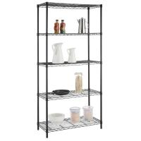Buy cheap 36 W X 14 D X 60 H  Home Wire Shelving Unit Black Powder Coating product