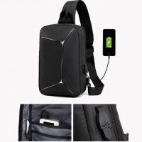 Buy cheap USB Reflective Chest Bag Waterproof Shoulder Bag Customized from wholesalers