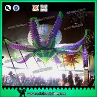 Buy cheap Club Party Decorative Inflatable Shapes , Oxford Colorful Inflatable Flower With Blower from wholesalers
