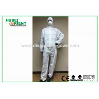 Buy cheap Splash Proof Protective Disposable Coveralls Type 5 , Chemical Coverall Suit from wholesalers