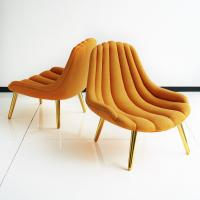 Buy cheap Customized Navy Lounge Chair , Yellow Jonathan Adler Brigitte Chair With Pad from wholesalers