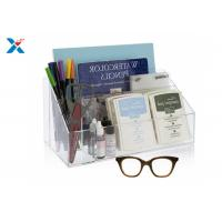 Buy cheap Clear Acrylic Desk Organizer / Office Desk Organizer With 12 1/2″ X 7″ X 6″ from wholesalers
