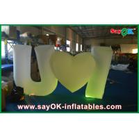 Buy cheap White Attractive Inflatable Lighting Decoration Funny For Event from wholesalers