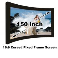 Buy cheap Good Price 16:9 Curved Fixed Frame Screen 150 Inch Matt White For 3D Display Home Theater from wholesalers