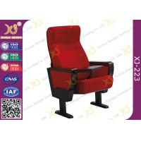 Buy cheap Stain Proof Full Upholstered Red Velvet Fabric Chairs For Stadium / Lecture Room from wholesalers