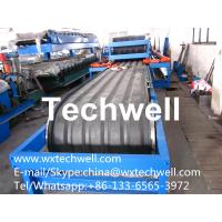 Buy cheap 0.4mm~0.7mm Thickness Galvanizes Color Steel Coil Rubber Belt Continuous PU Sandwich Panel Machine from wholesalers