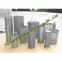 Buy cheap ALSI304-316 Stainless Steel Mesh Cup / Disc Filter / Industrial Filter Cartridge And Perforated Tube from wholesalers