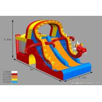 Buy cheap Customized Kids Inflatable Water Slides Dino Type Double Slide For Park Center from wholesalers