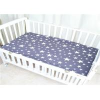 China Bed Covers Baby Crib Sheets Mattress 100% Cotton Soomth And Soft Knitted on sale