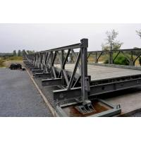Prefabricated Standardized Strongest Truss Bridge , Galvanized Portable Steel Bridge