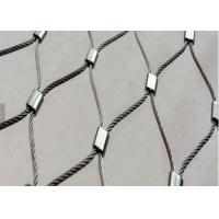 China Knotted Stainless Steel Rope Mesh For Plant Climbing / Stair Railing System on sale
