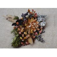 Buy cheap Mini Palm Colorful Dried Flower Arrangements For Frame Decoration Coffee Table from wholesalers