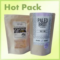 Buy cheap Brown Kraft Paper Stand Up Pouches With Rectangular Window For Powder Food Packaging from wholesalers