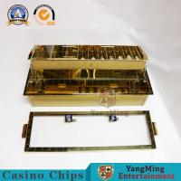 Buy cheap Double Floors Metal Golden Casino Chip Tray Baccarat Texes Customize Luxury Rulette Wheels Blackjack Table from wholesalers