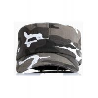 Buy cheap Camouflage Fabric Cool Flat Peak Caps Brim Curve Adjustable Size Personalized from wholesalers