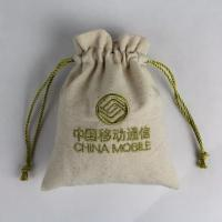 Buy cheap Eco Friendly Cotton Canvas Drawstring Bag For Shopping Silk Screen Printing from wholesalers