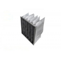 Buy cheap F8 Activated Carbon And Synthetic Fiber Media Pocket Air Filter Aluminum Frame product