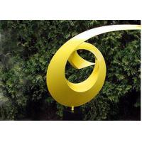 Buy cheap Yellow Painted Metal Sculpture Dancing Ribbon Shape Various Size / Colors from wholesalers