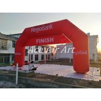 Buy cheap giant advertising  inflatable regio bank arch with 2 changable banner of START FINISH  for neterlands for sale from wholesalers