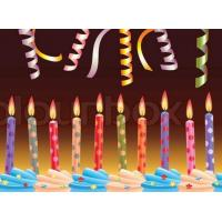 Buy cheap Multi Colored Pretty Birthday Candles Customized Printed For Festivals / Valentine's Day from wholesalers