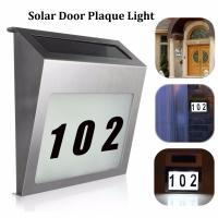 Buy cheap Solar Door Plaque Light 3 LED Outdoor Illuminated House Signs Address Number Light with Stainless Steel Wall Doorplate from wholesalers