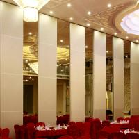 Buy cheap Banquet Hall Acoustic Movable Walls / Wooden Soundproof Sliding Room Folding Partitions from wholesalers