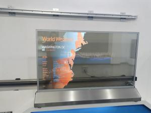 Buy cheap 55'' Self Emission Capacitive Display Glass PCAP OLED Touch Screen Transparent product
