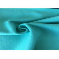 57/58 Inch Width Woven Wool Fabric Green Color OEM / ODM Acceptable