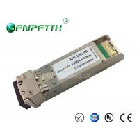 Buy cheap Single mode SFP Fiber Module 10G 1550nm 40km , rj45 sfp module from wholesalers