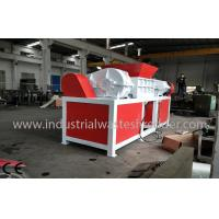 China Automatic Dual Shaft Solid Waste Shredder Low Noise For Plastic Drum on sale