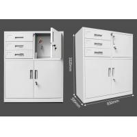 Buy cheap White Metal Vertical File Cabinets , A4 Metal Filing Cabinet 3 Drawer Mobile Pedestal from wholesalers