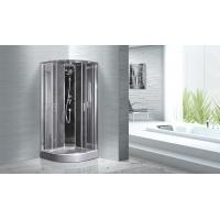 Buy cheap Quadrant Shower Cubicles 900 X 900 X 2100 MM Circle Grey ABS Tray Chrome Profiles from wholesalers