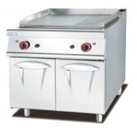 Buy cheap Western Kitchen Equipment Gas Griddle With Cabinet 1/3 Grooved 800*900*940mm from wholesalers